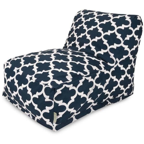 Majestic Home Goods Trellis Bean Bag Lounger Chair