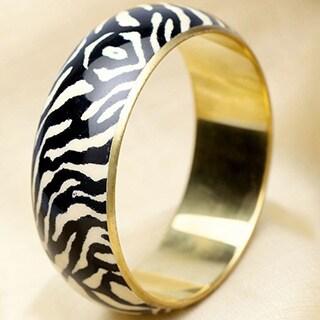 Hand-crafted Zebra Bangle (India)
