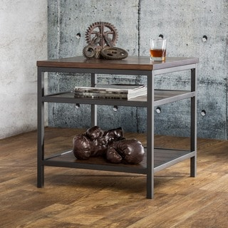 Furniture of America Payton Industrial Tiered End Table