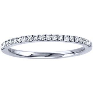 14k White Gold 1/6ct TDW Round-cut Diamond Ring (H-I, I1-I2)