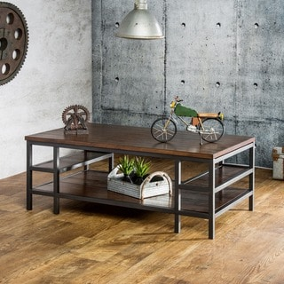Furniture of America Payton Industrial Tiered Coffee Table
