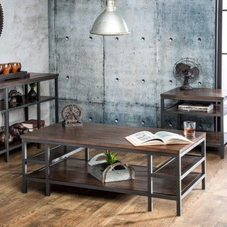 Furniture of America Payton 3-Piece Industrial Accent Table Set