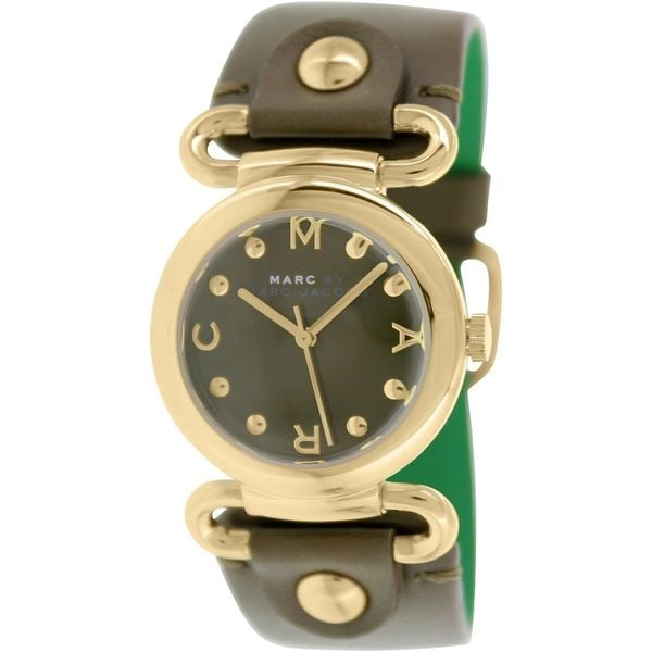 Marc By Marc Jacobs Women's Molly MBM1333 Brown Leather Quartz Brown Dial Watch