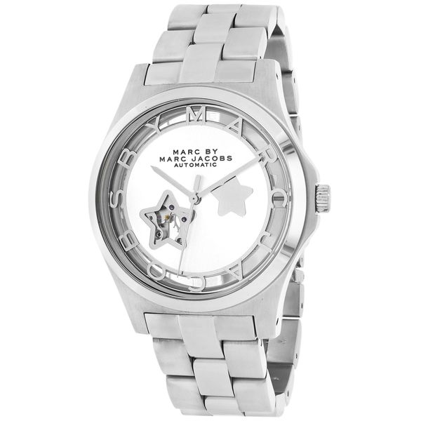 Marc By Marc Jacobs Women's Henry Icon MBM9708 Silver Stainless Steel Automatic Silver Dial Watch