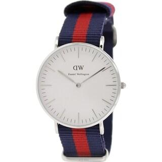 Daniel Wellington Women's Oxford 0601DW Two-tone Nylon Quartz White Dial Watch