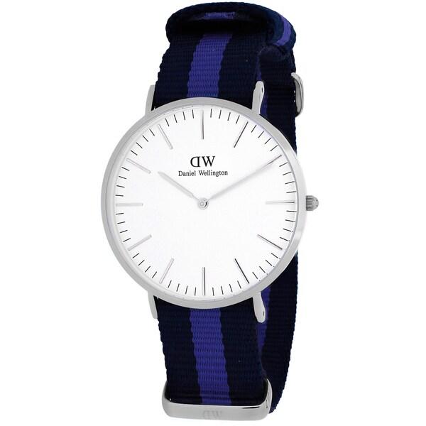 Daniel Wellington Women's Swansea 0603DW Two-tone Nylon Quartz White Dial Watch