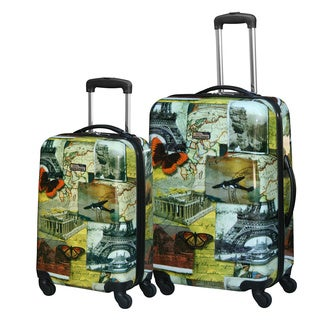 National Geographic Explorer 'Collage' 2-piece Hardside Spinner Luggage Set