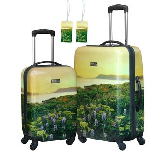 National Geographic Explorer 'Flowers' 2-piece Hardside Spinner Luggage Set