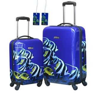 National Geographic Explorer 'Fish' 2-piece Hardside Spinner Luggage Set