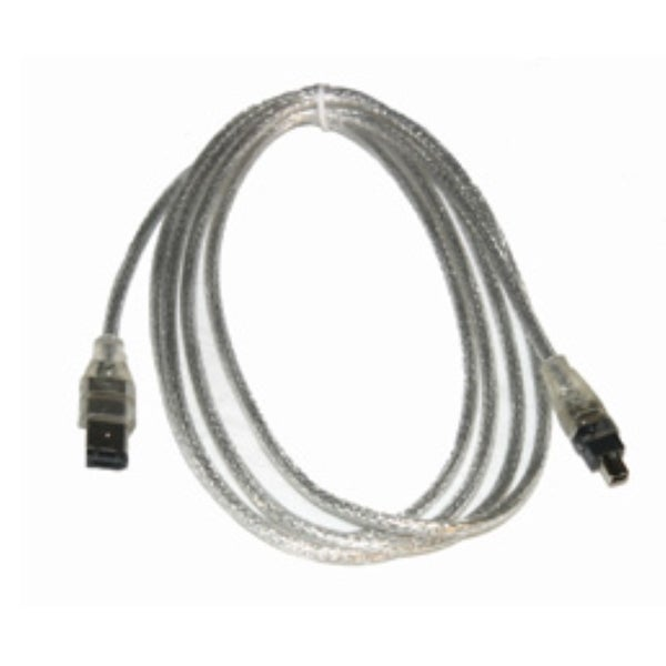 Syba Silver 6-foot Firewire 1394a 6 pin to 4 pin Cable