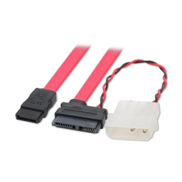 Connectland 6-inch SATA/Molex Power to mini SATA Power and Data Cable