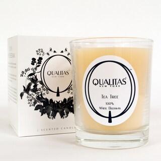 Qualitas 100-percent USP Pharmaceutical White Beeswax Tea Tree Candle