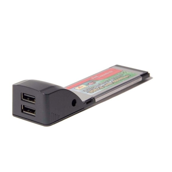 Syba Express Card USB 2.0 2x Ports 34mm NEC D720114 Chipset up to 480Mbps