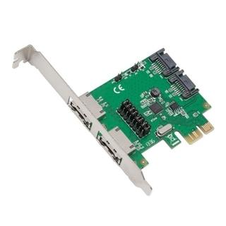 Syba PCIe 2.0 SATA 2E2I Jumper Setting 2 Internal/ External Port ASM106x Chipset