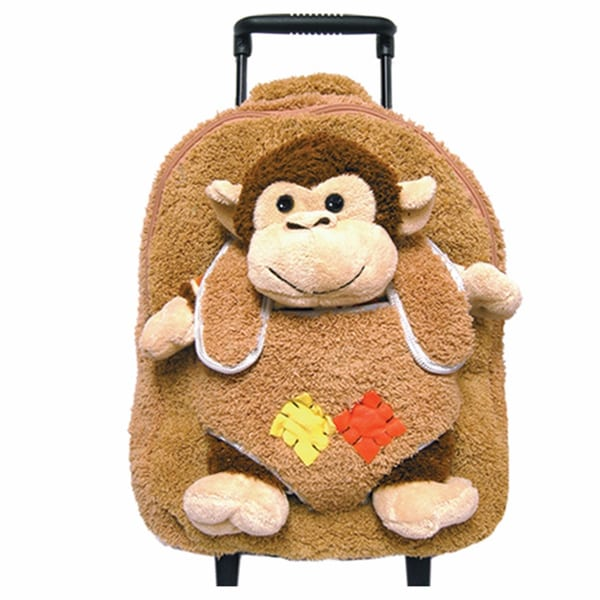 Best Buddy Whimsical Monkey Rollerbag/ Backpack