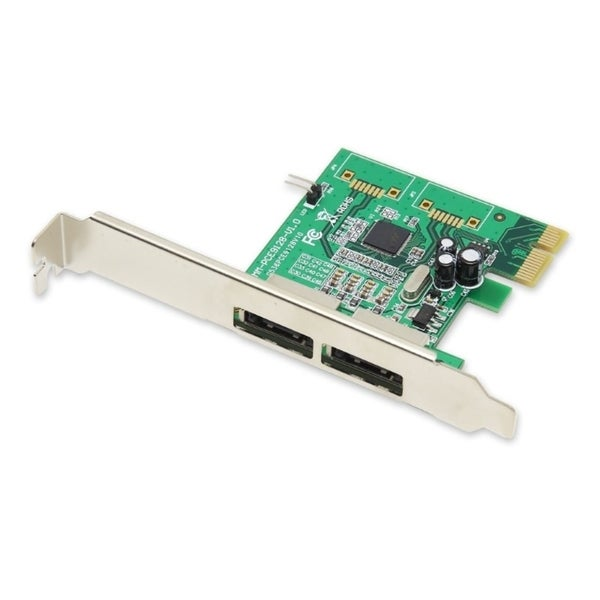 IOCrest PCIe 1 Interface 2-Port External e-SATA Controller Card 88SE9120 Chipset