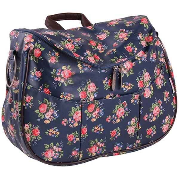 Minene Layla Navy Floral Diaper Bag