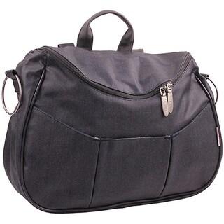 Minene Layla Dark Denim Blue Deluxe Diaper Changing Shoulder Bag and Backpack