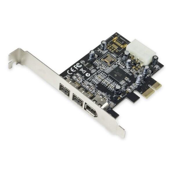 IOcrest PCIe Firewire TI Chipset 2x 1394b 9 Pin 1x 1394a 6 Pin Ports