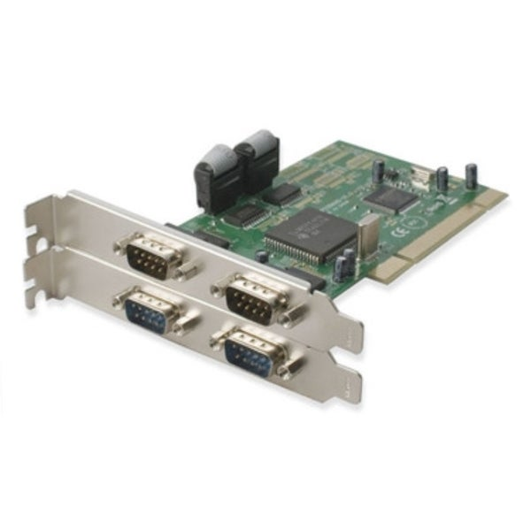 IOcrest PCI 32-Bit 4x Port Serial DB9 Card Netmos 9865 Chipset
