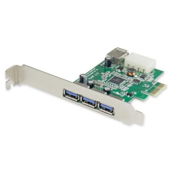 IOcrest PCI Express PCIe USB 3.0 3+1 Port Card Etron Chipset LPB Molex Power