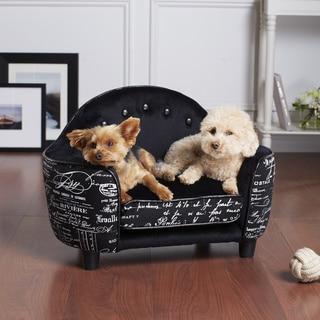 Ultra Plush Black French Furniture Pet Bed