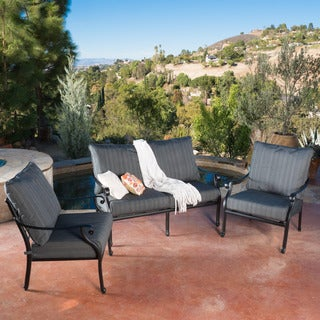 Christopher Knight Home Carnegie 3-piece Outdoor Loveseat Set