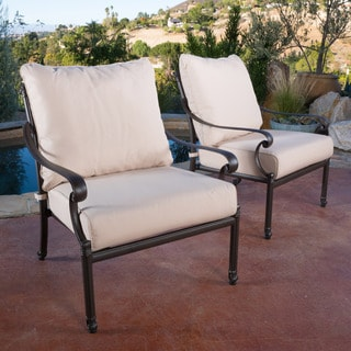 Christopher Knight Home Hemingway Outdoor Cast Armchair (Set of 2)