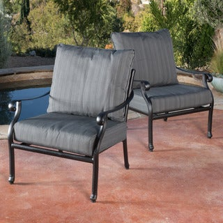 Christopher Knight Home Carnegie Outdoor Armchair (Set of 2)