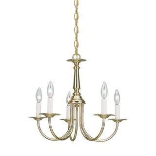 Traditional 5-light Heirloom Bronze Chandelier