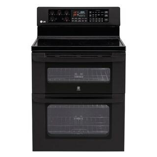 LG Black Double Oven Electric Range