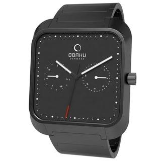 Obaku Men's V145UBBSB 'Harmony' Black Stainless Steel Watch