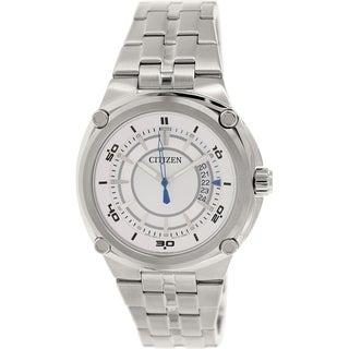 Citizen Men's BK2530-50A Silver Stainless-Steel Quartz Watch with Silver Dial