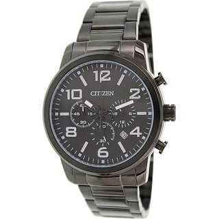 Citizen Men's AN8055-57E Black Stainless-Steel Quartz Watch with Black Dial