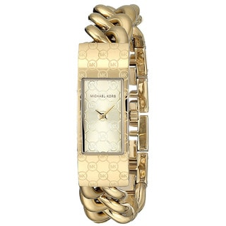 Michael Kors Women's Hayden MK3306 Gold Stainless-Steel Quartz Watch with Gold Dial