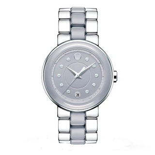 Movado Women's 0606554 Cerena Lilac Dial Watch