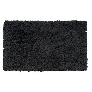 Black Shaggy Raggy Rug