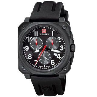 Wenger Men's 79061 AeroGraph Cockpit Black Chronograph Watch