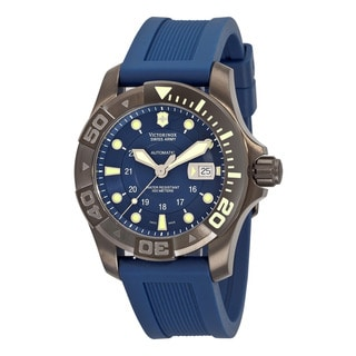 Swiss Army Men's 241425 'Dive Master' Blue Dial Blue Rubber Strap Watch