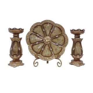 D'Lusso Designs Seville Collection 4-piece Charger Stand and 2 Candlestick Set