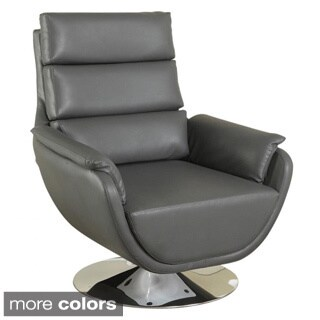 Syncro Faux Leather Swivel Accent Chair