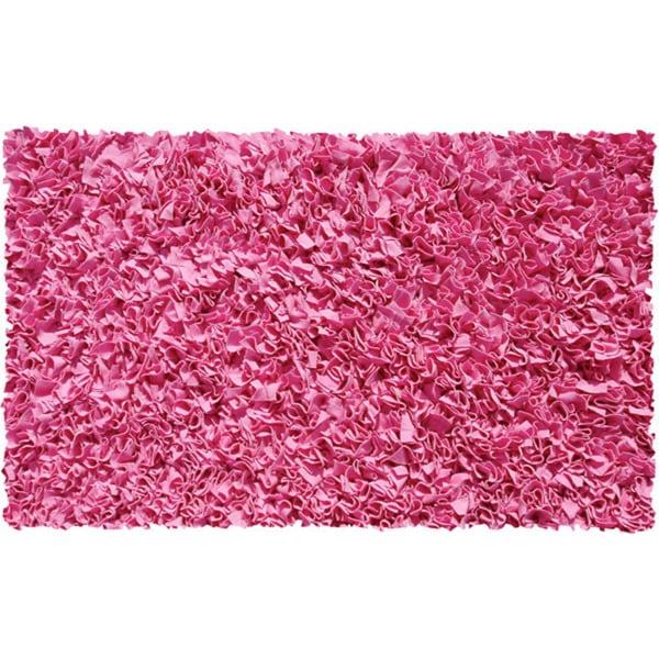 Shaggy Raggy Bubblegum Pink Jersey Cotton Shag Rug (2'8 x 4'8)