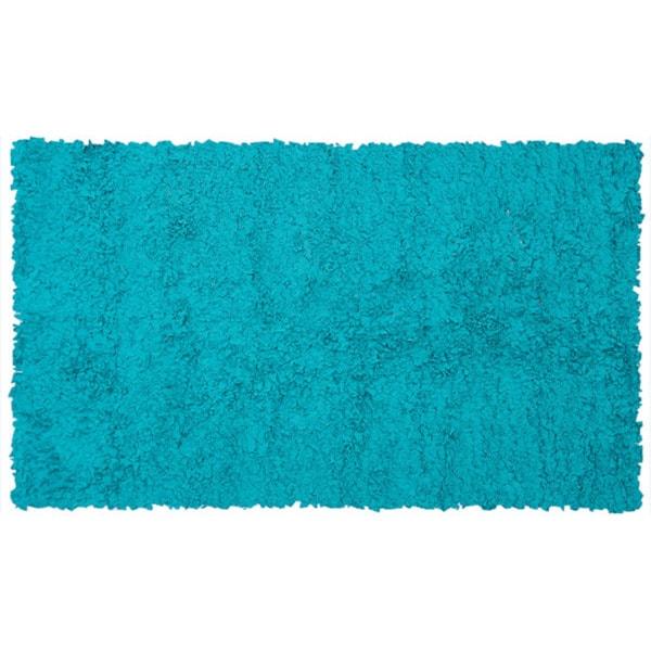 Shaggy Raggy Teal Jersey Cotton Shag Rug (2'8 X 4'8