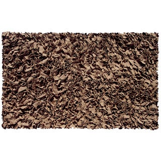 Shaggy Raggy Brown Jersey Cotton Shag Rug (2'8 x 4'8)