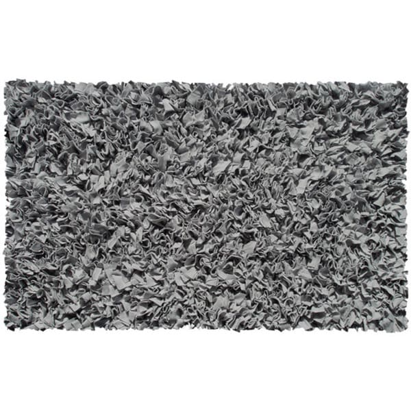 Grey Shaggy Raggy Rug