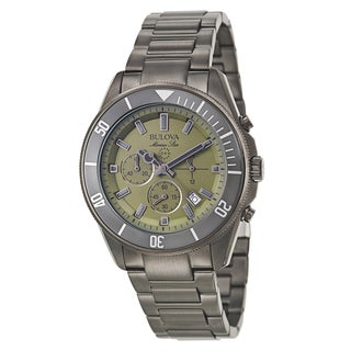 Bulova Men's 98B206 'Marine Star' Stainless Steel Quartz Watch