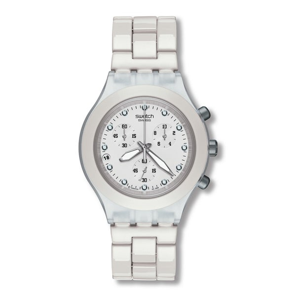 Swatch Men's SVCK4045AG Diaphane Chronograph White Watch
