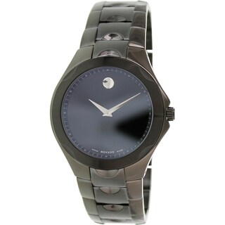 Movado Women's Luno 0606536 Black Stainless-Steel Swiss Quartz Watch with Black Dial
