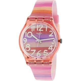 Swatch Women's Originals GP140 Multicolor Plastic Swiss Quartz Watch with Pink Dial