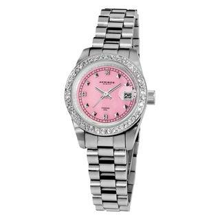 Akribos XXIV Women's Diamond Markers Japanese Quartz Stainless Steel Bracelet Watch